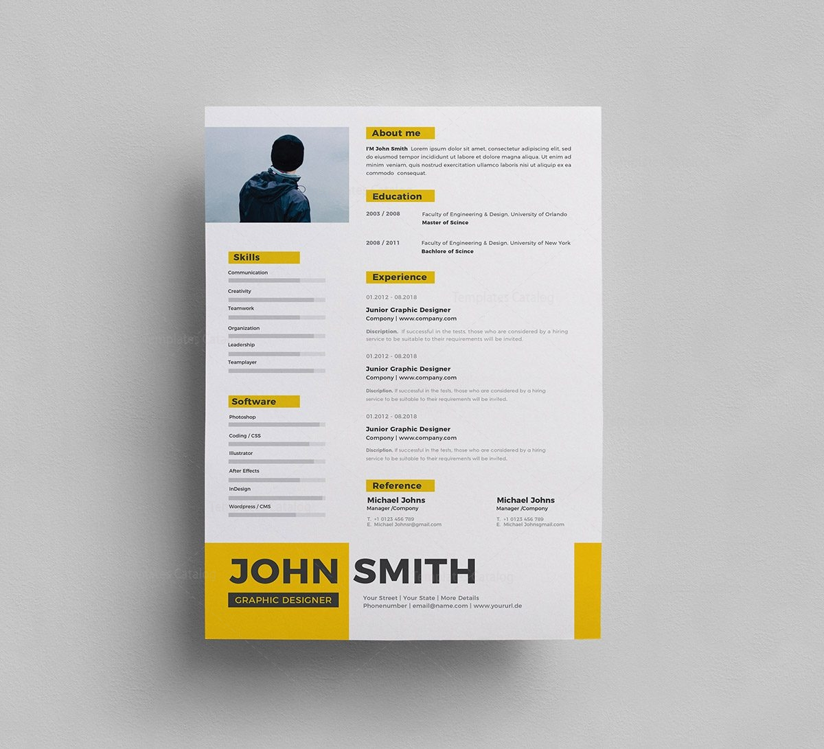 free psd resume template 000287
