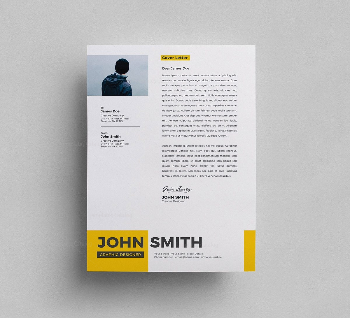 Free Psd Resume Template 000287 Template Catalog