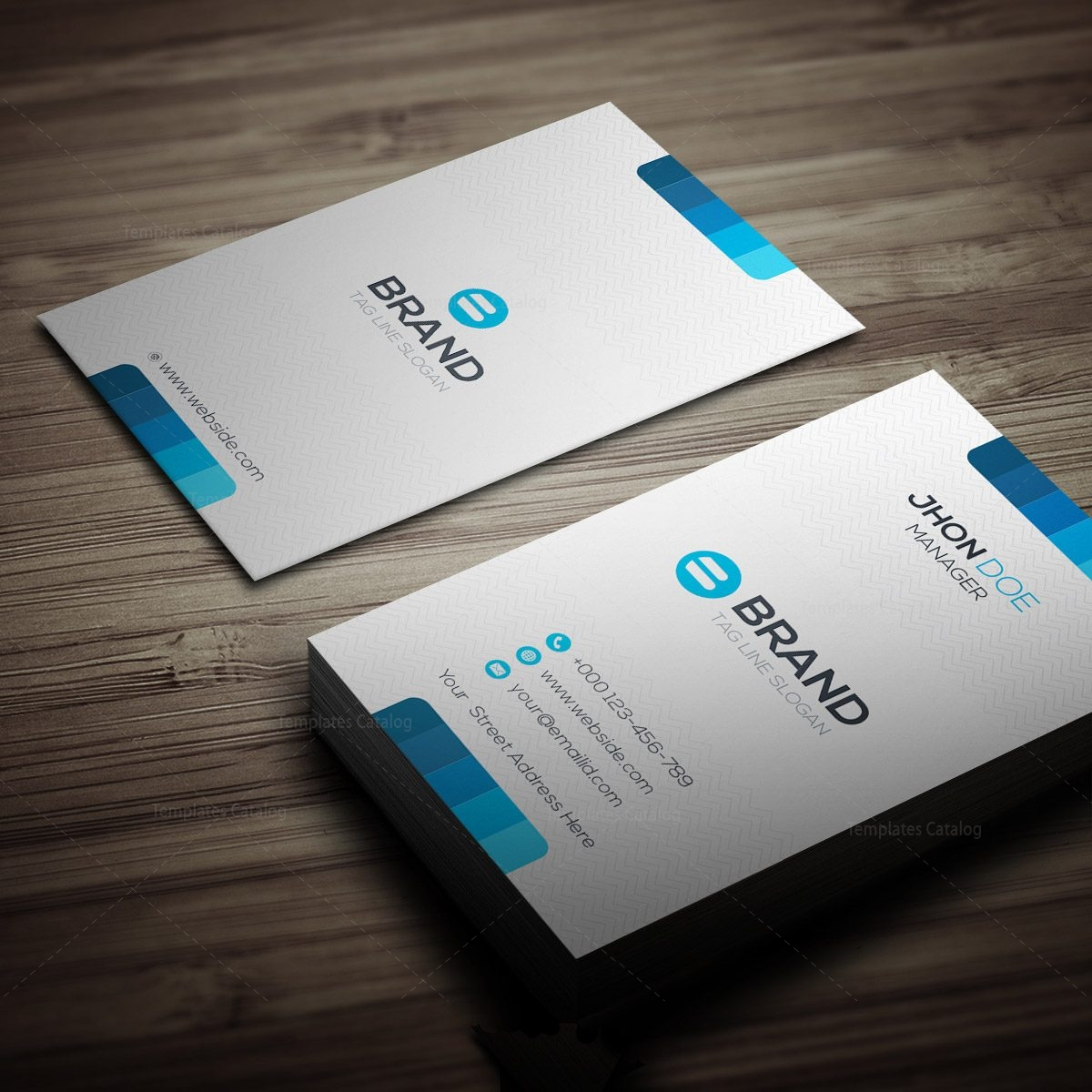 horizontal   vertical business card template 000270