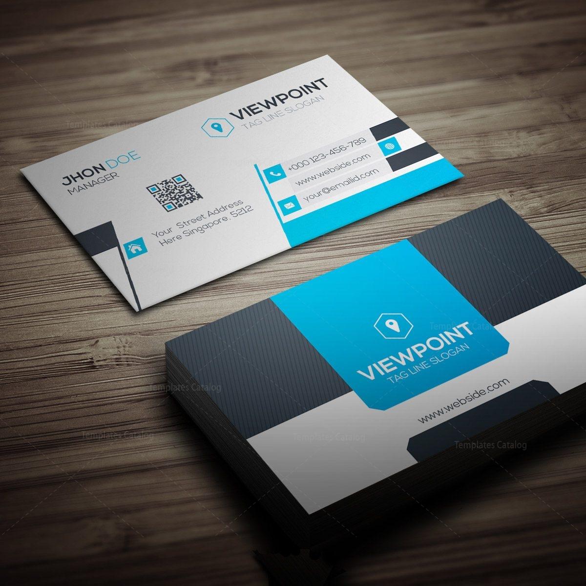 Market Business Card Template 000274 - Template Catalog