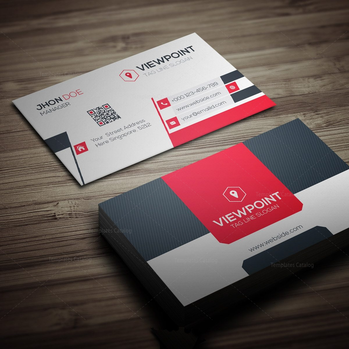 market business card template 000274 template catalog