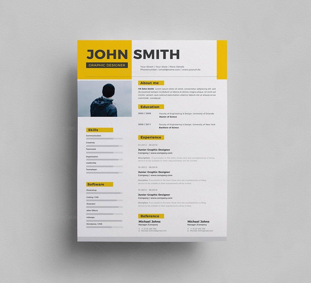 psd resume templates - Roberto.mattni.co