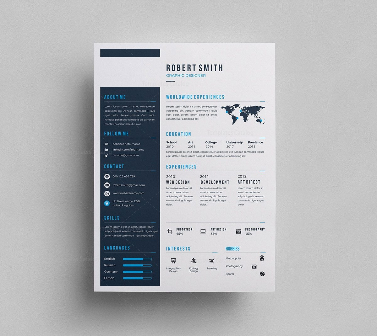 Sleek Psd Resume Template 000295 Template Catalog