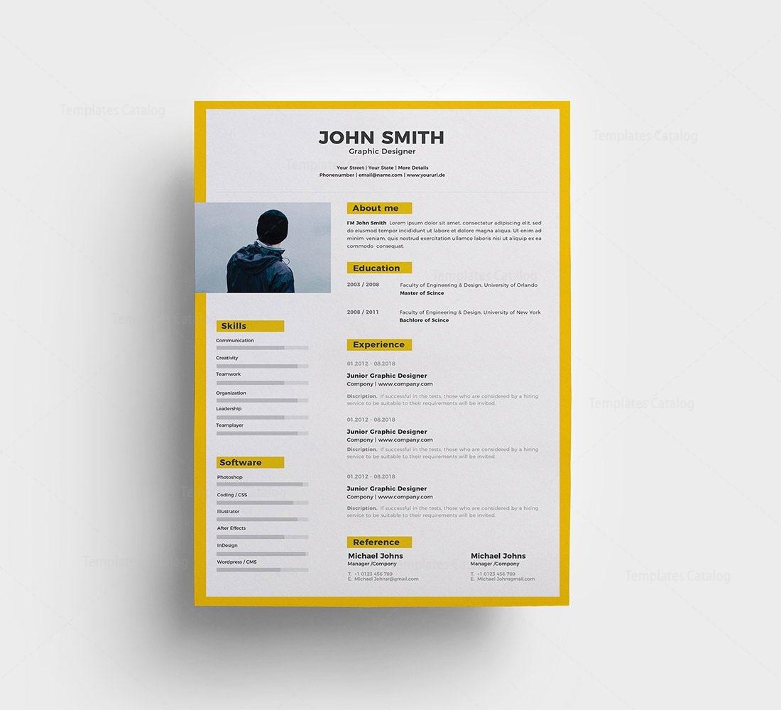 Sleek Resume Template 000284