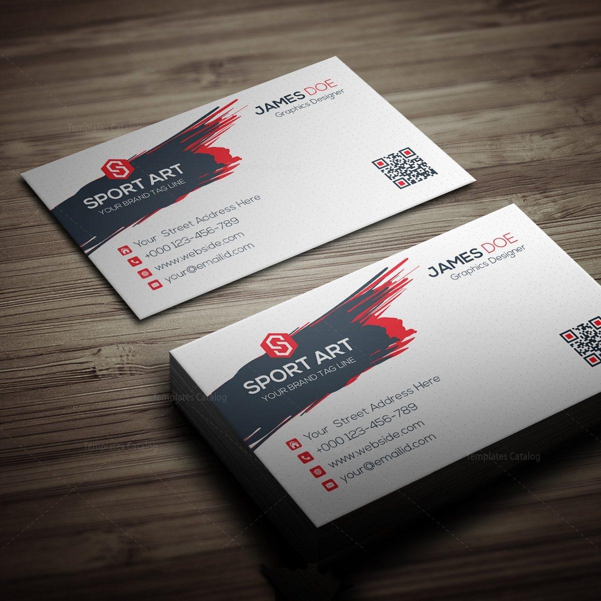 Sport Art Business Card Template 000267 - Template Catalog