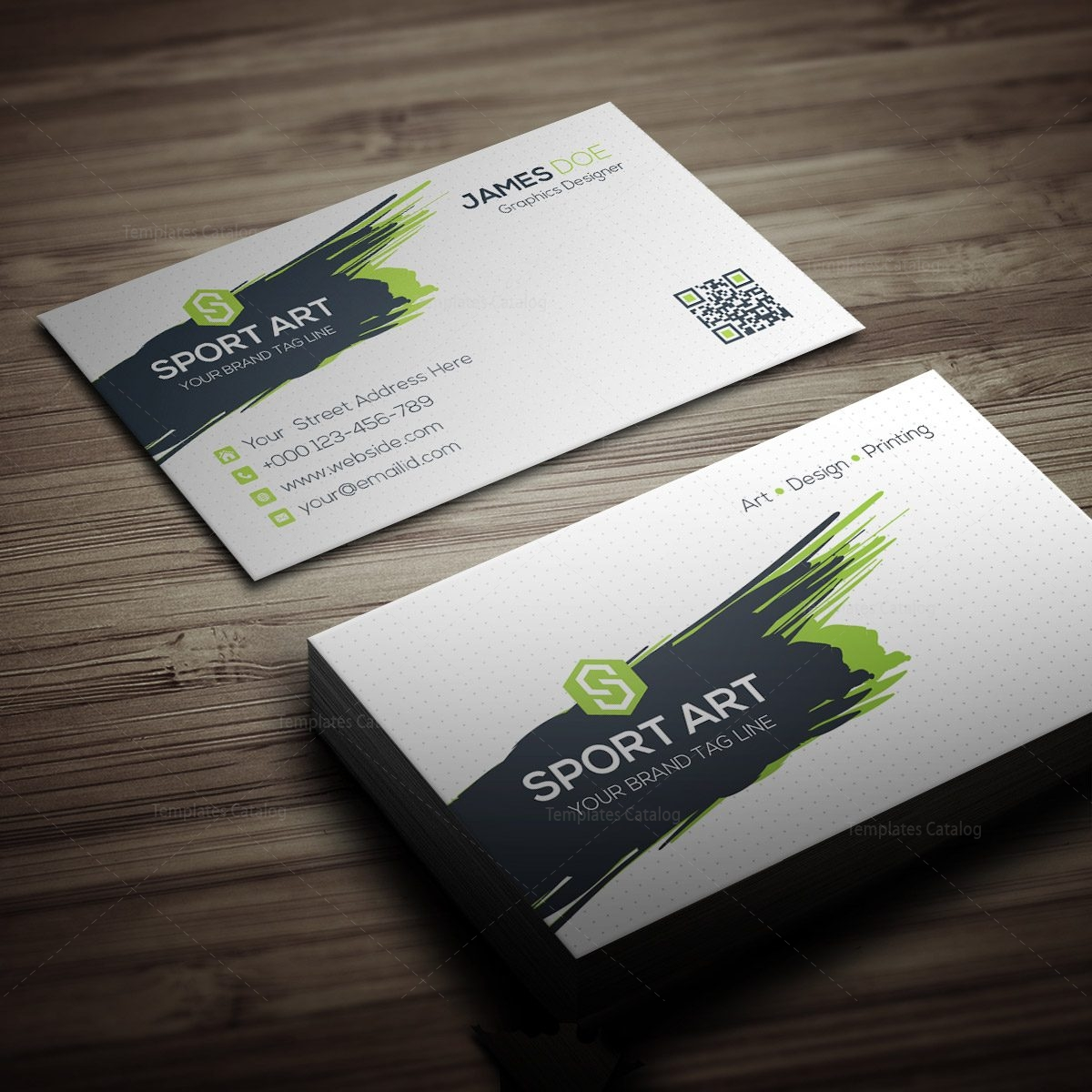 Sport art business card template 000267 template catalog sport art business card template 3 fbccfo Images