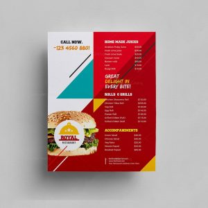 Stylish Food Menu Template
