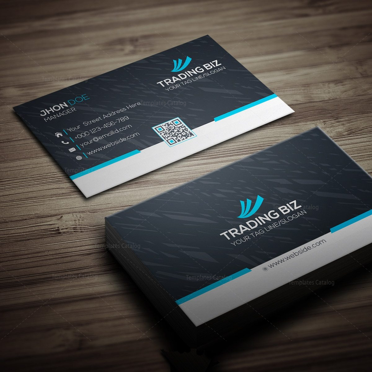 Trading Company Business Card 000269 - Template Catalog