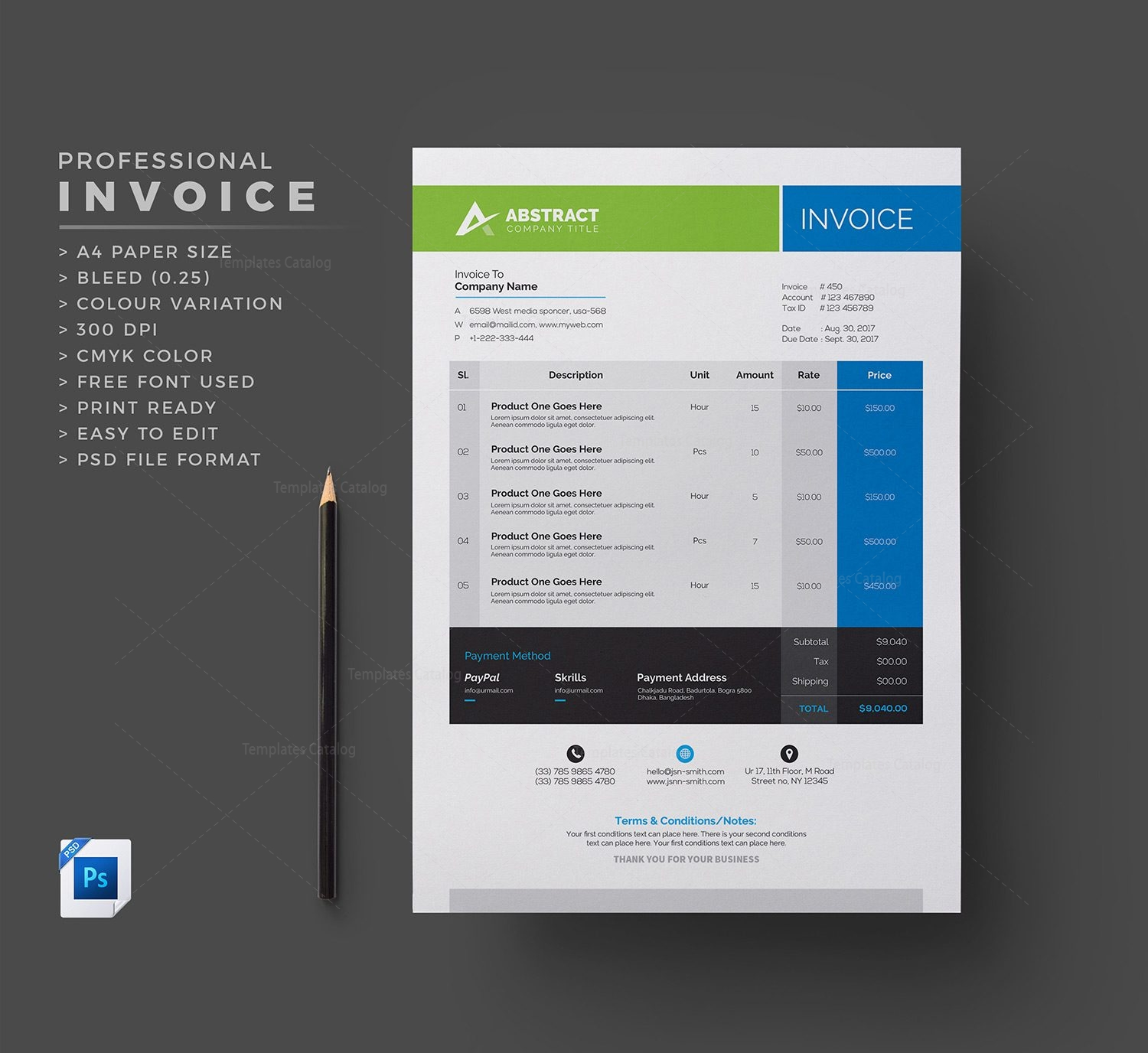 Corporate Invoice Template Template Catalog - Corporate invoice template