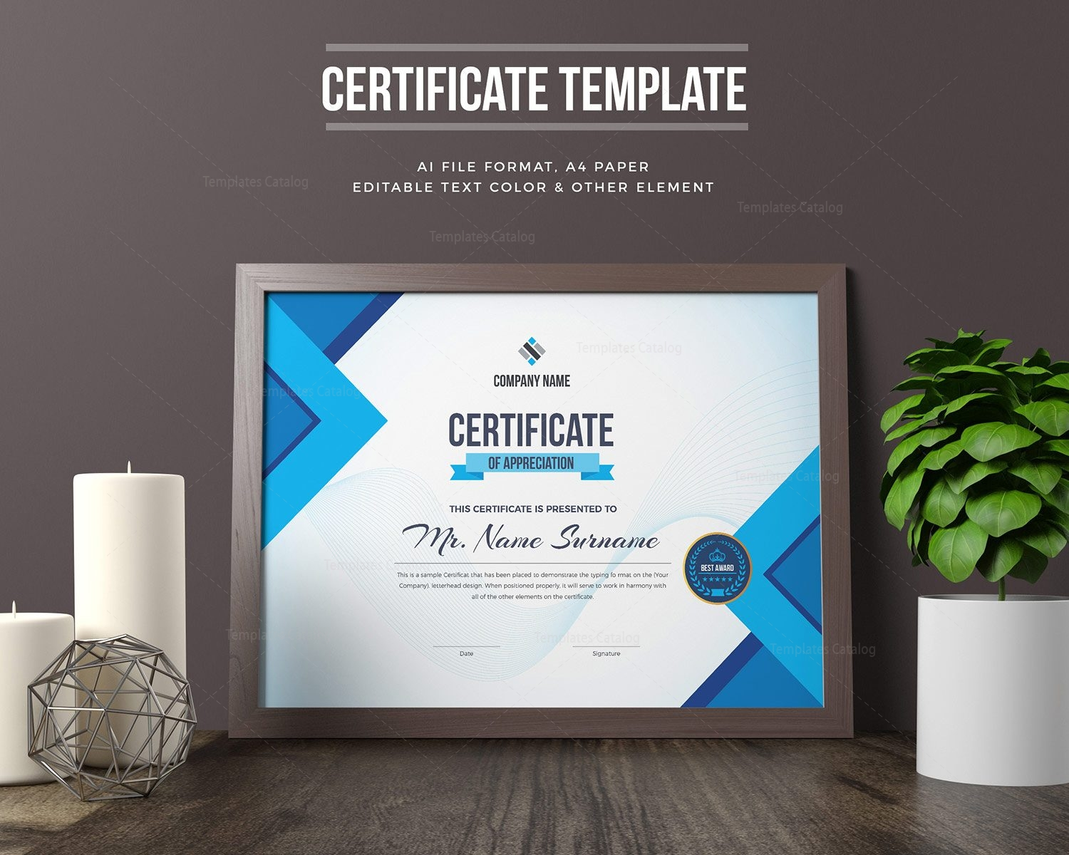 Editable certificate template 000329 template catalog for Editable certificate template