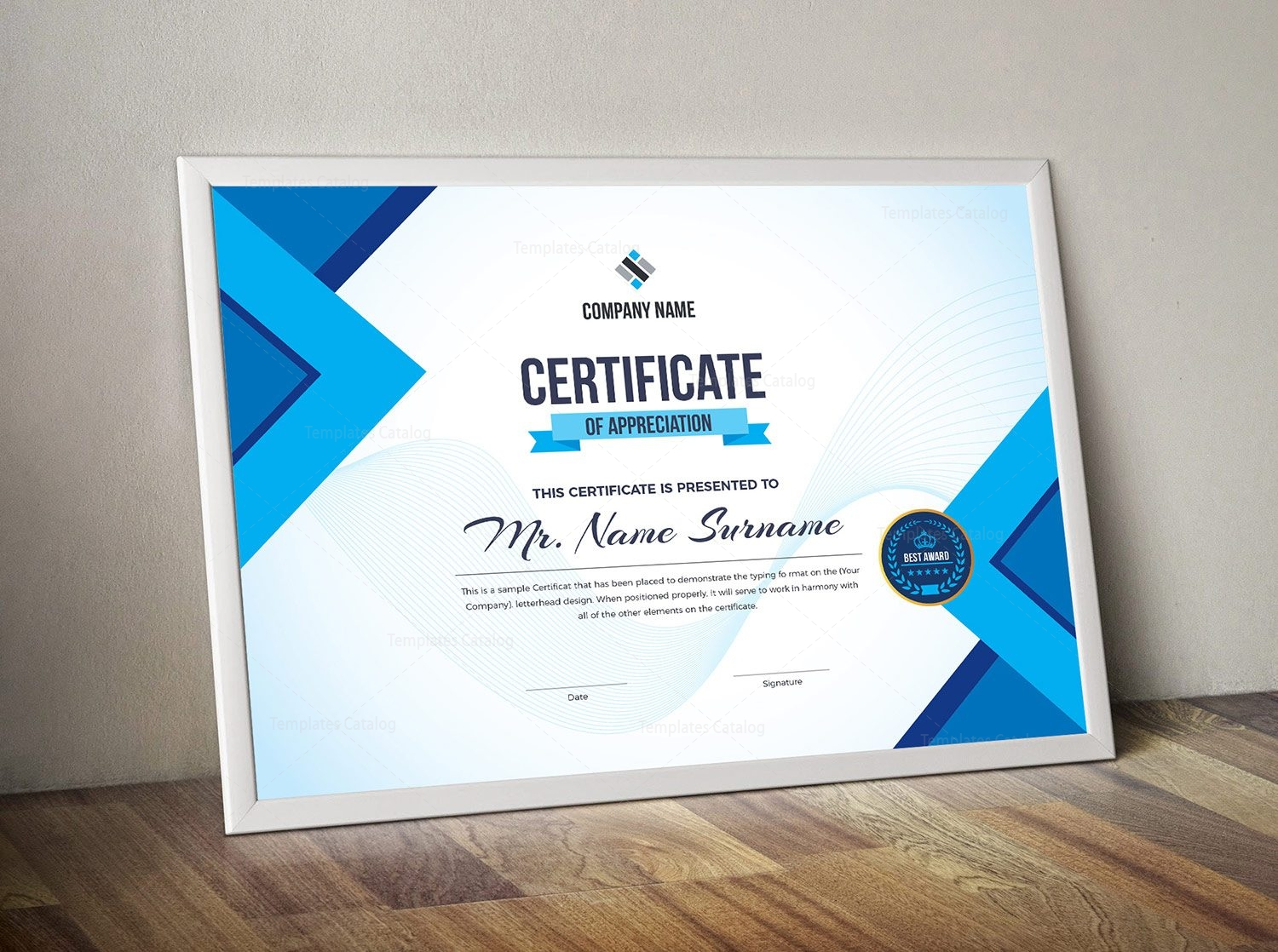 editable certificate template 2