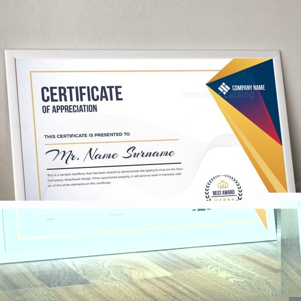 Elegant Certificate Template 000321 Template Catalog