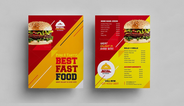 elegant dinner menu template