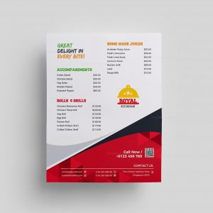 Royal Restaurant Menu Template