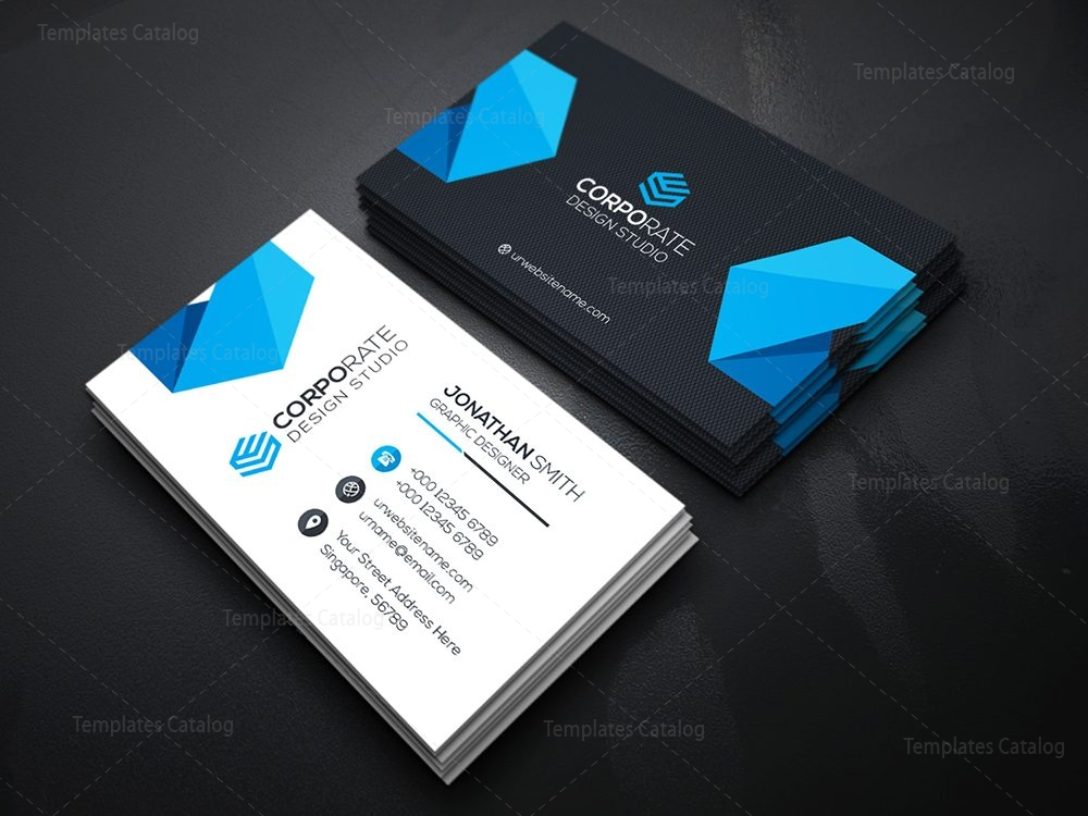 Best Seller Business Card Template 000356 - Template Catalog