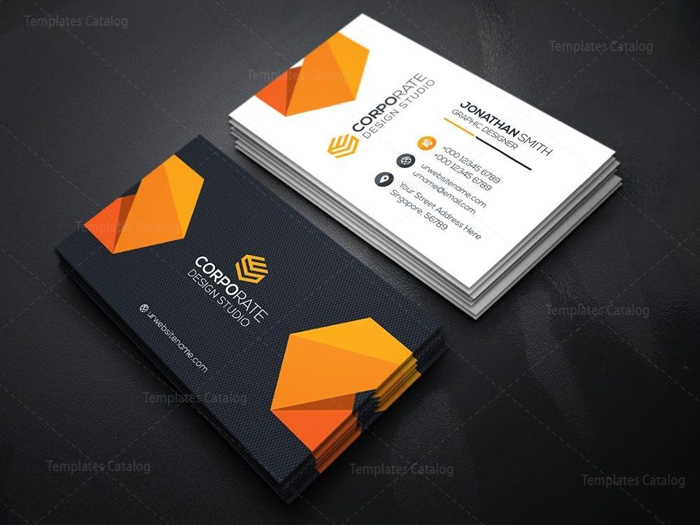 Best Seller Business Card Template 000356 - Template Catalog