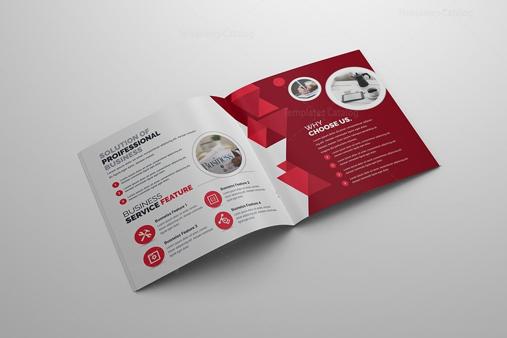 Bifold Brochure Template PSD Template Catalog - Brochure template photoshop