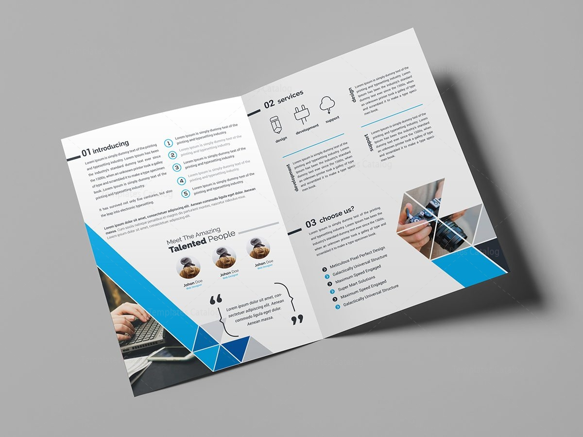Business brochure design template 000439 template catalog for Typography brochure design