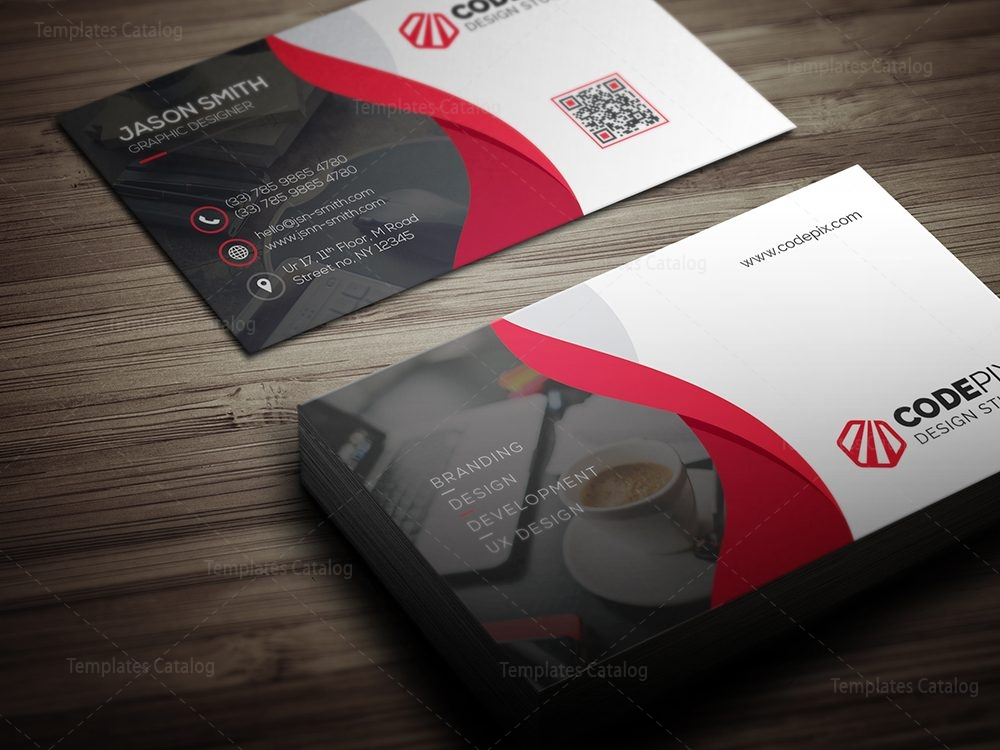 business card design with modern style 000375 template catalog