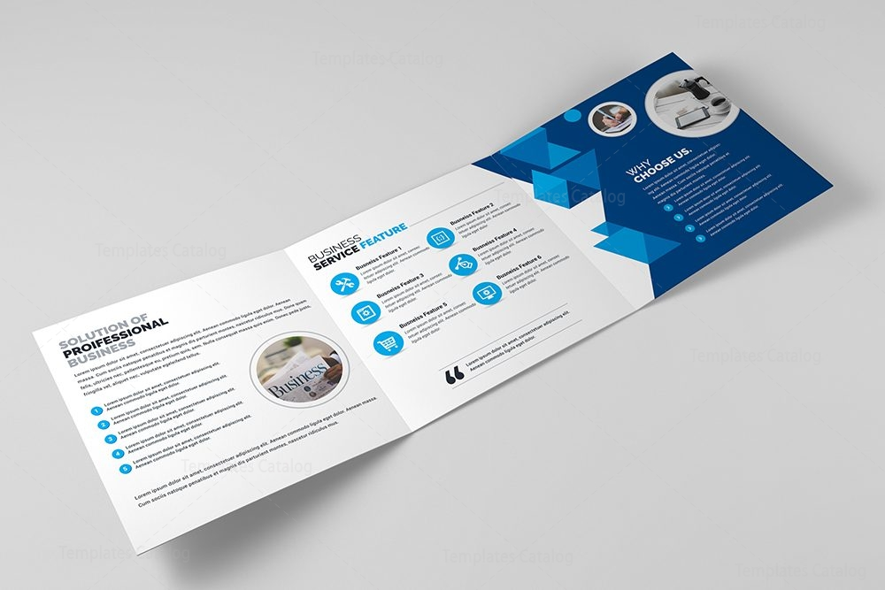 Business Trifold Brochure Template 000428 Template Catalog