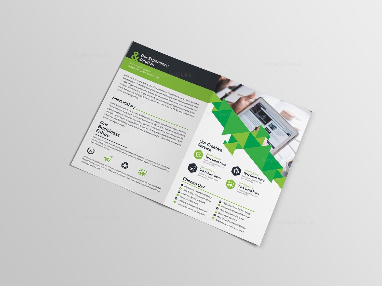 Classy Bifold Brochure Template Template Catalog - Bifold brochure template
