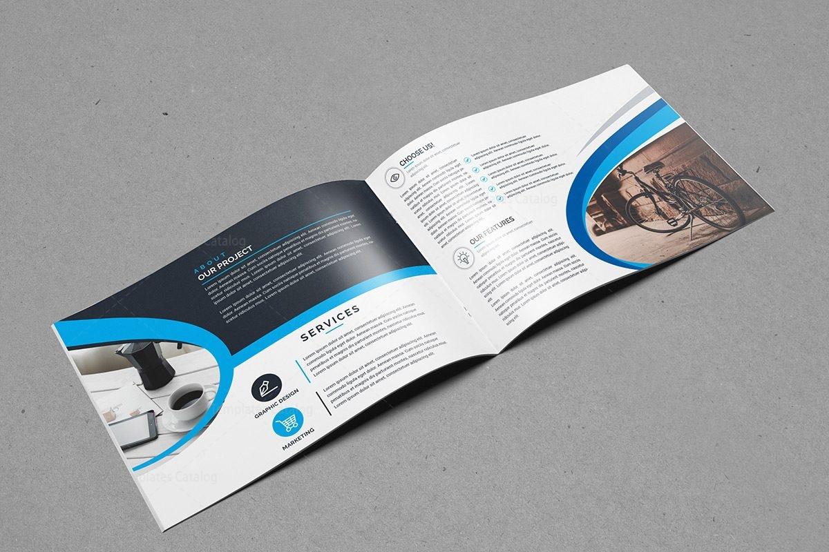 Classy landscape bi fold brochure template 000397 for Classy brochure design