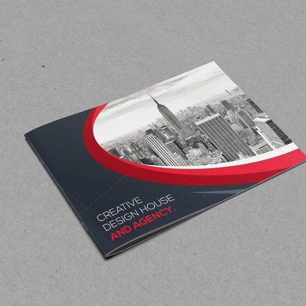 Classy Landscape Bi-Fold Brochure Template 7