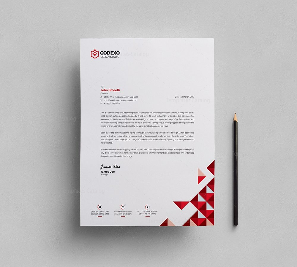 Classy Letterhead Template 000404 - Template Catalog