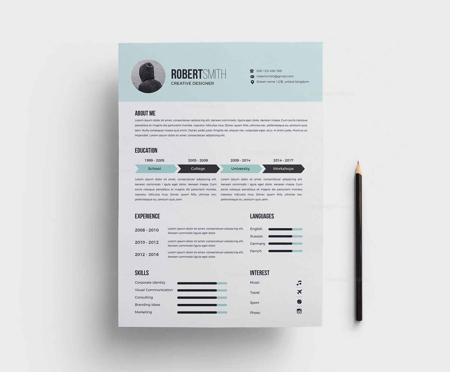 classy light blue resume template 000379 template catalog. Black Bedroom Furniture Sets. Home Design Ideas