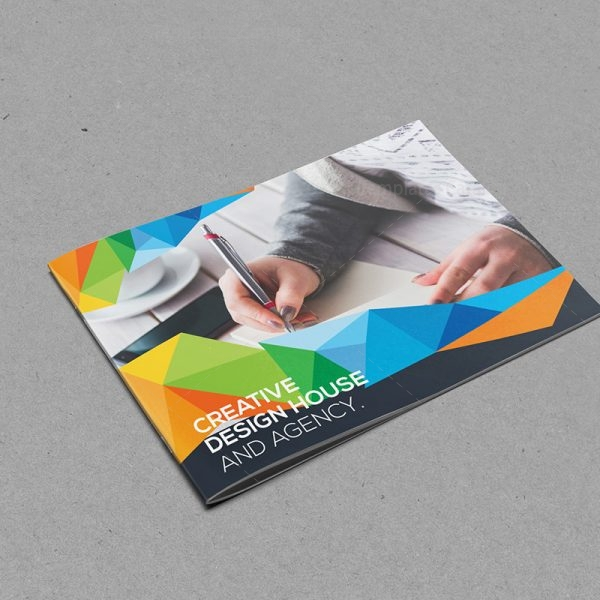 Colorful Landscape Bifold Brochure Template 1