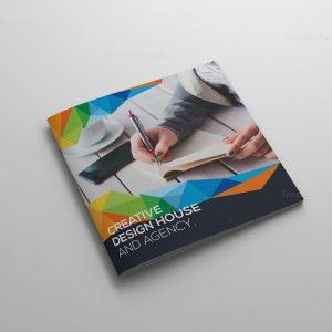Colorful Square Brochure Template