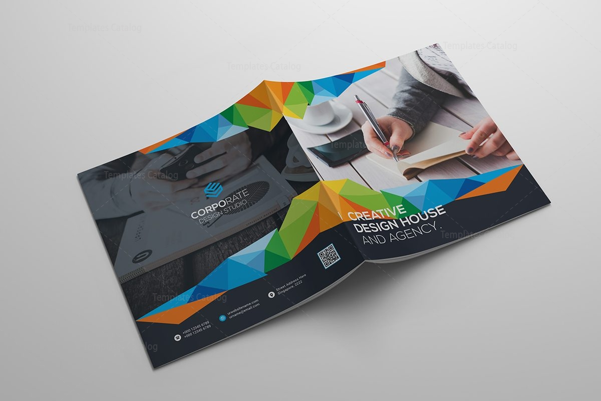 colorful brochure templates - colorful square brochure template 000413 template catalog