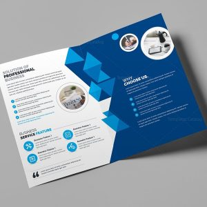 Corporate Business Bifold Brochure Template