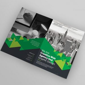 Corporate Company Bifold Brochure Template