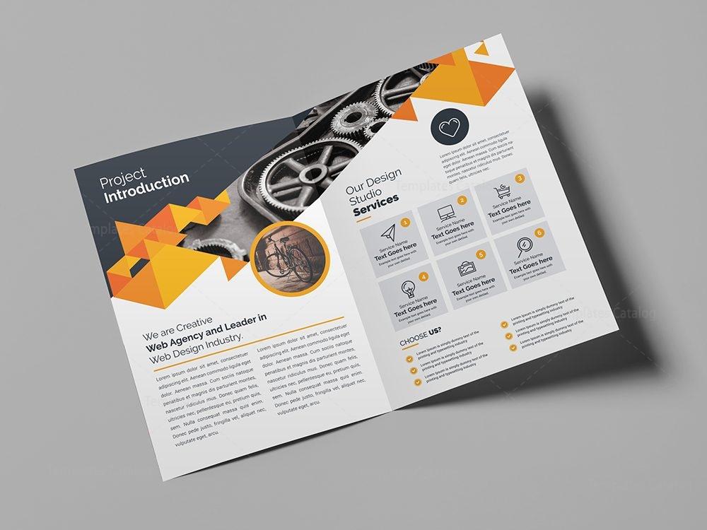 Corporate Company Bifold Brochure Template 000436 Template Catalog