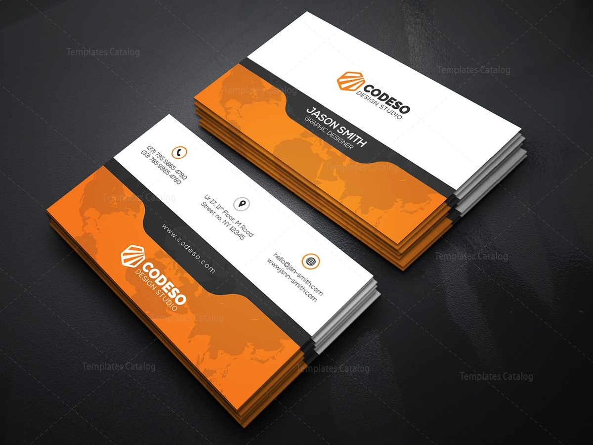Creative Business Card Template with Perfect Style 000371 - Template ...