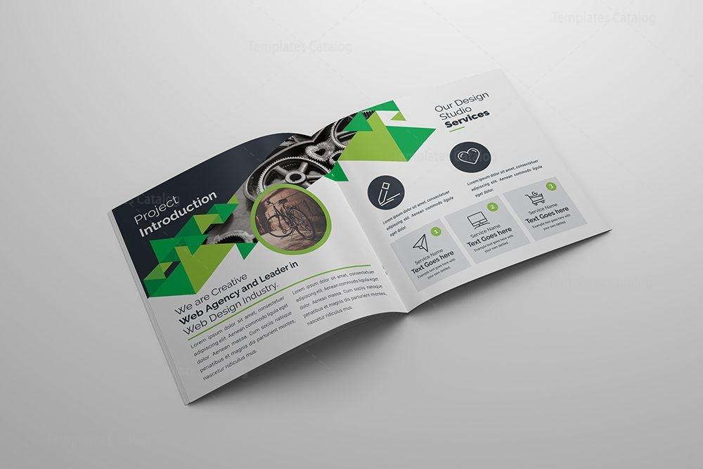 Creative Corporate Bifold Brochure Template PSD Template - Bifold brochure template