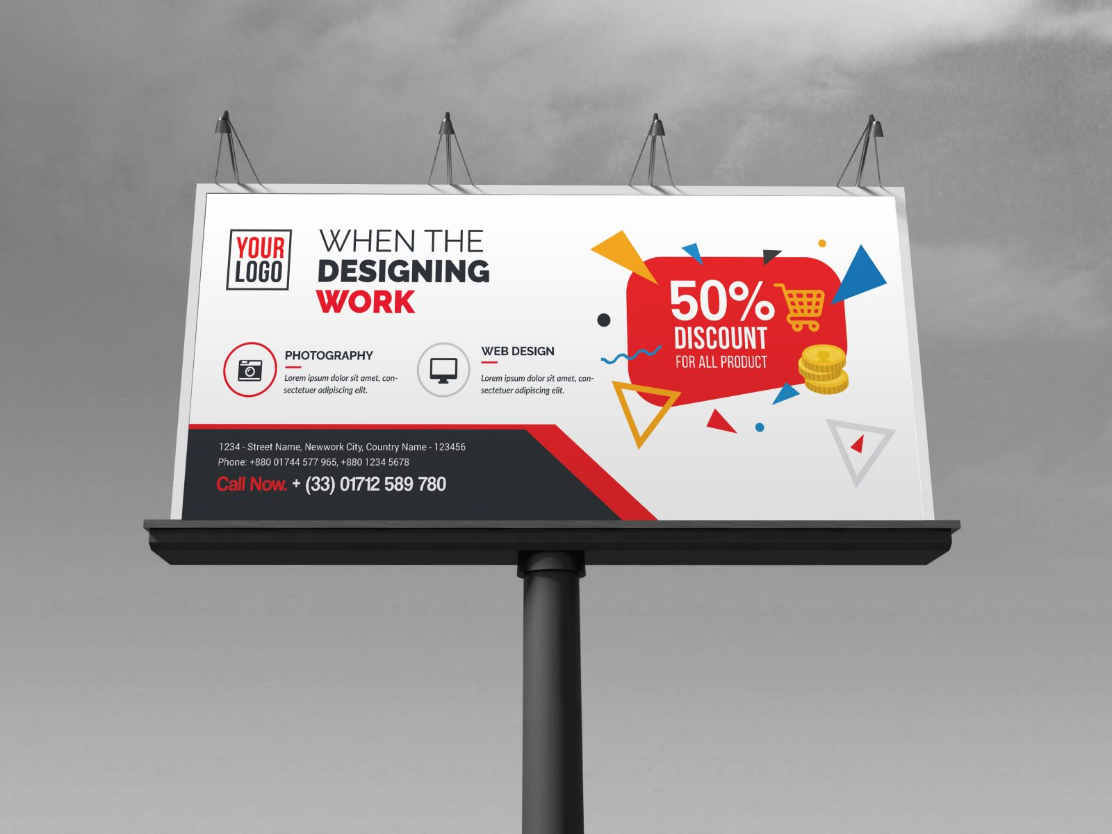 discount billboard banner template 000353