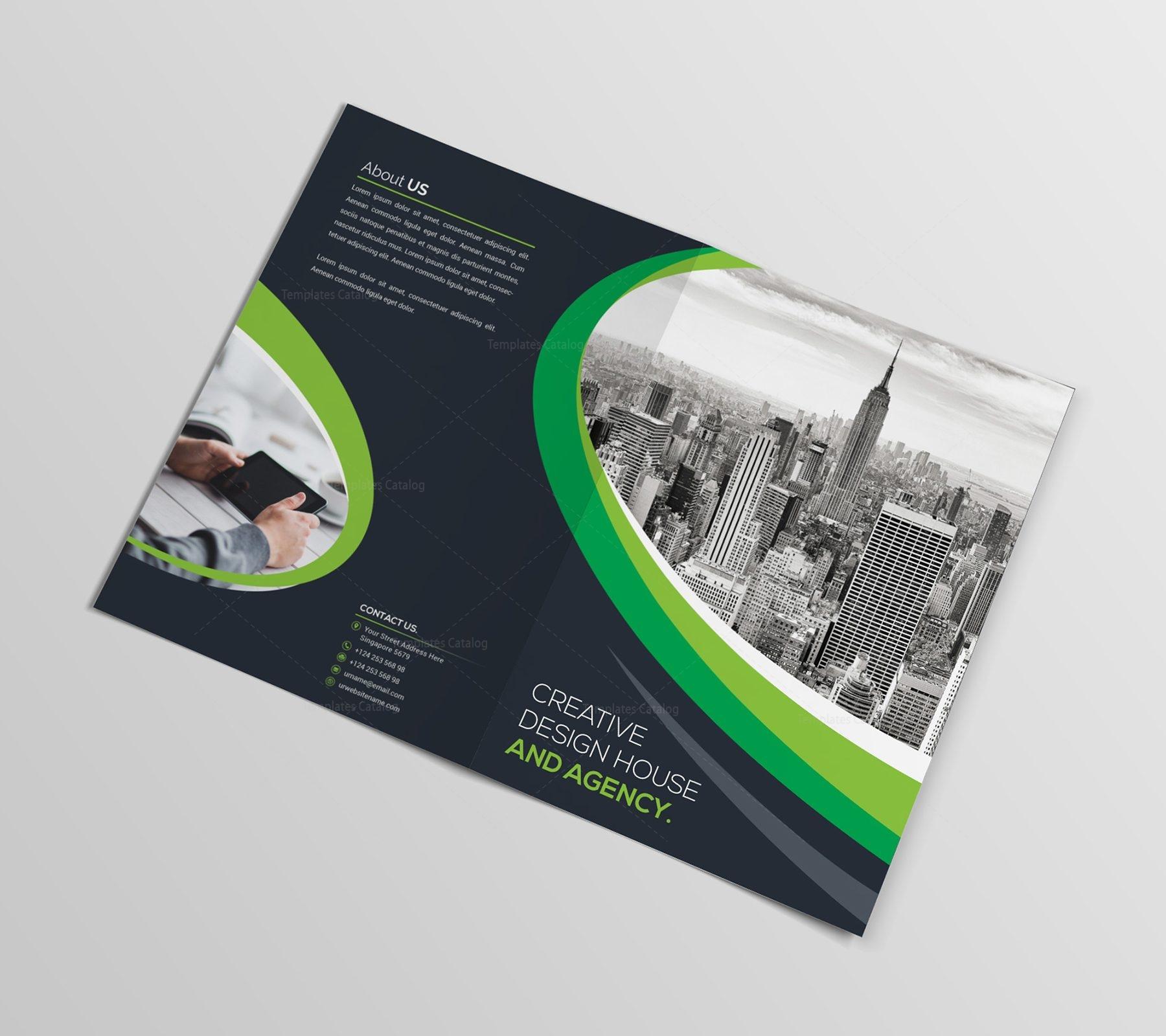 Elegant Bifold Brochure Template 000431 Template Catalog