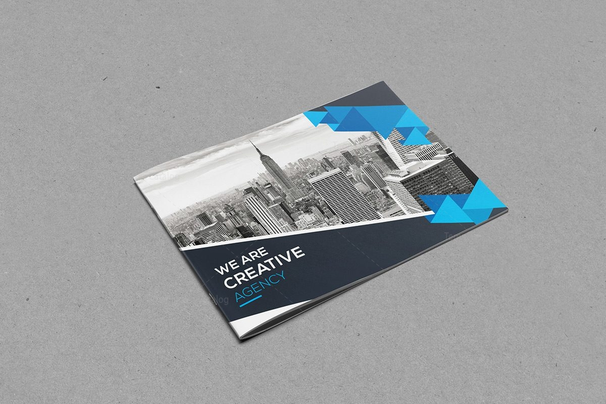 Elegant Corporate Brochure Template Template Catalog - Hotel brochure template