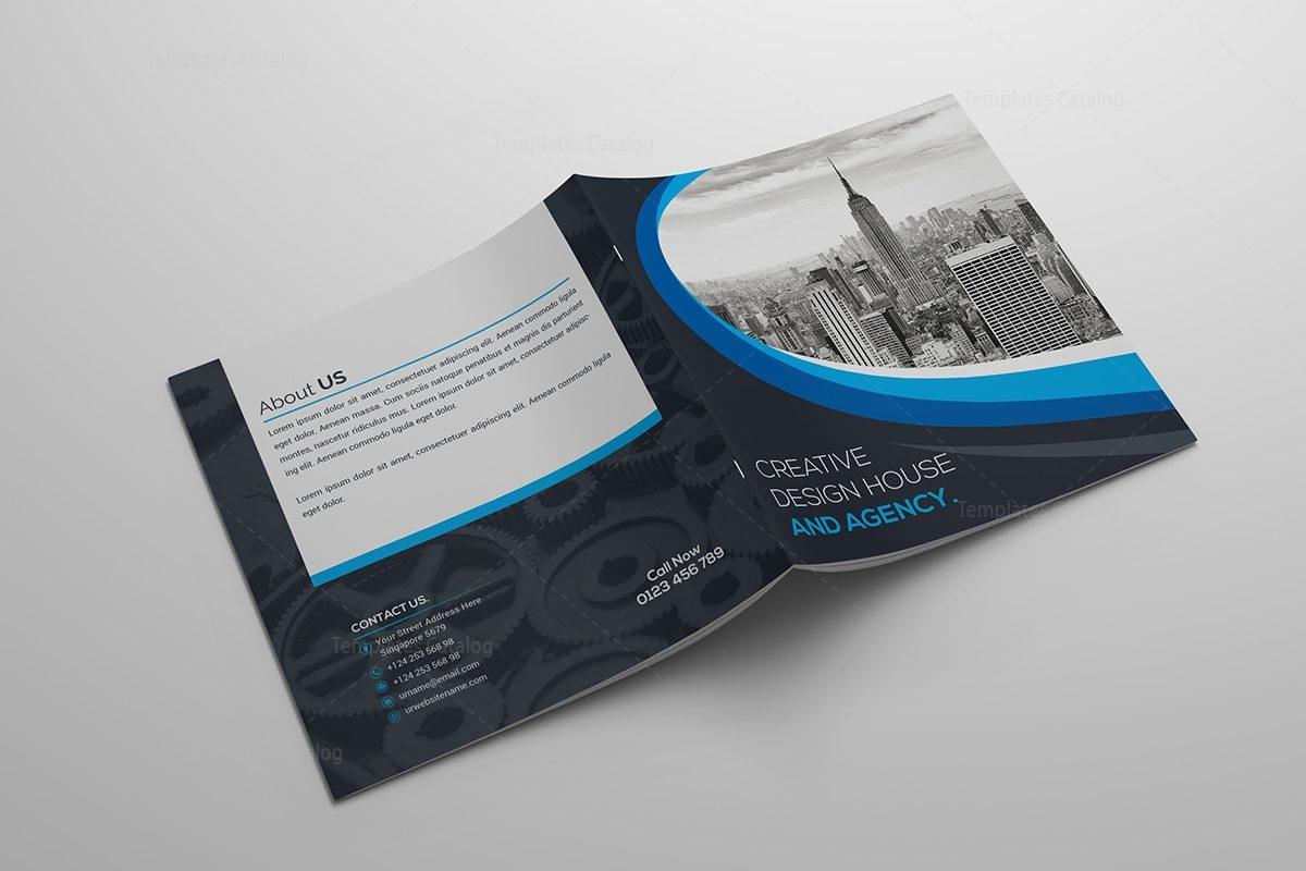 2 fold brochure template - elegant square bi fold brochure template 000411 template