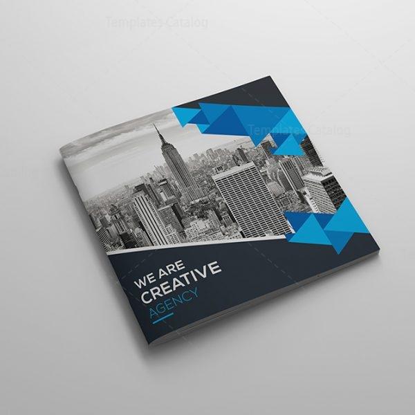 elegant style square brochure template 1