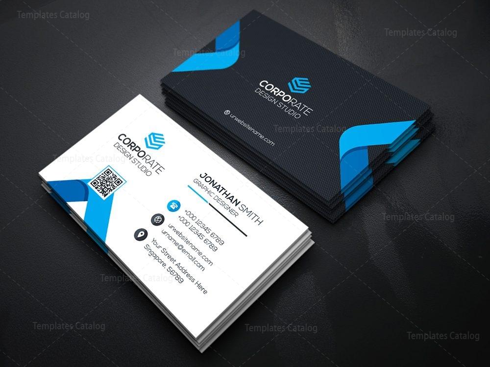 Futuristic Business Card 000357 Template Catalog