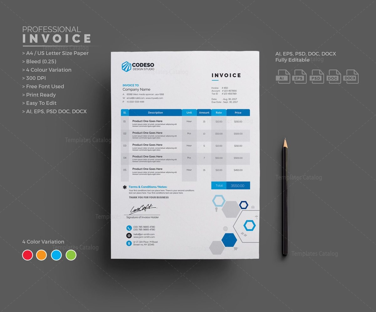 Fantastic Invoice Template Ai Photos Resume Ideas Namanasacom - Invoice template illustrator