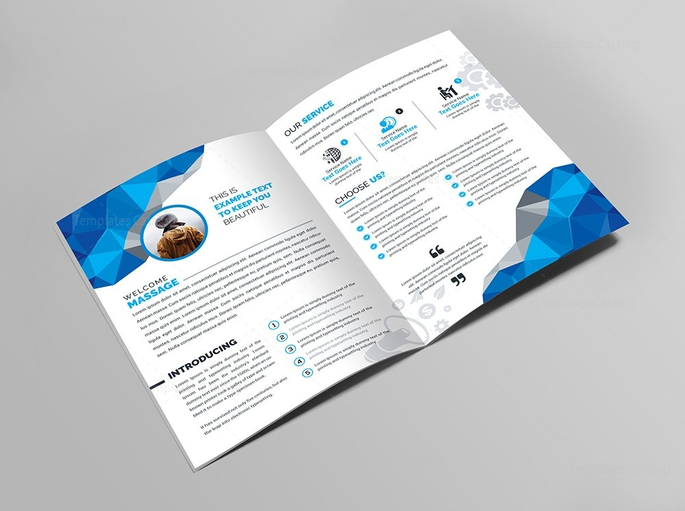 medical bifold brochure template 2