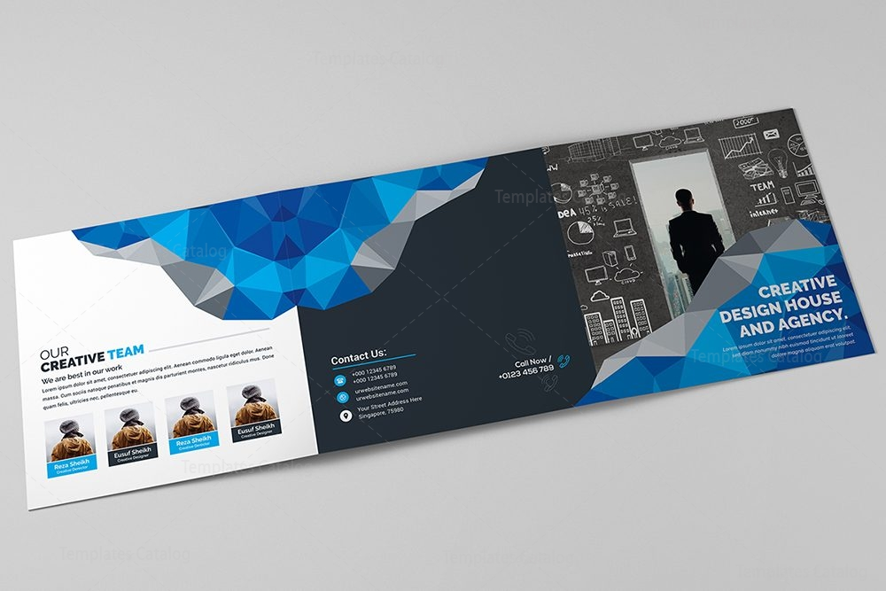 Modern trifold brochure template 000429 template catalog for Modern brochure design templates