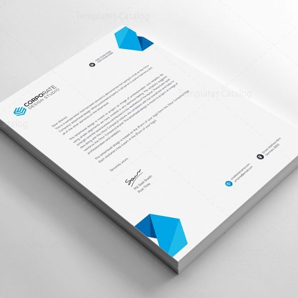 Psd Corporate Letterhead Template   Template Catalog