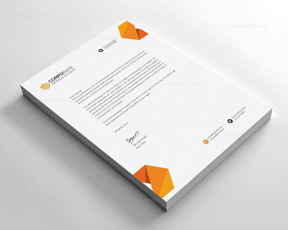 Psd Letterhead Template | Psd Corporate Letterhead Template 000401 Template Catalog