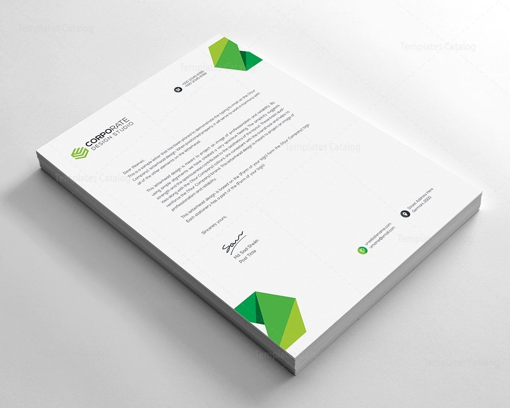 Psd corporate letterhead template 000401 template catalog for Stationery templates psd