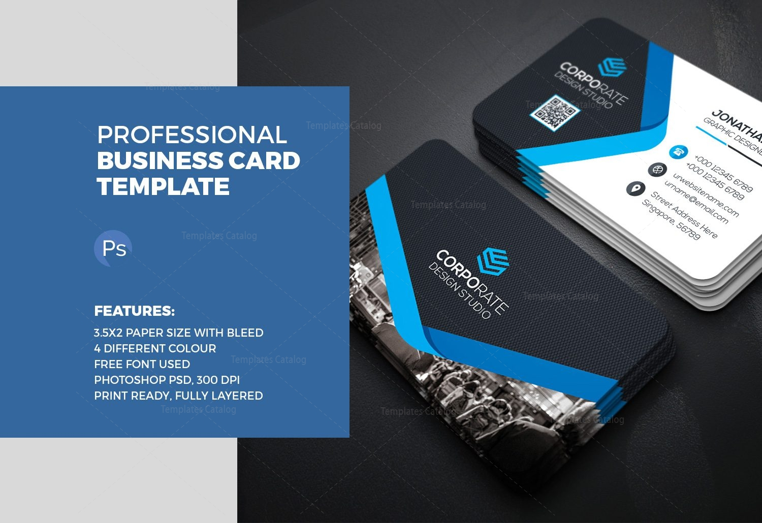 People Business Card Template 000358 - Template Catalog